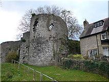 SJ0566 : North-eastern tower of Denbigh town walls by Eirian Evans