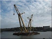 TQ7568 : GPS Apollo Craneship in River Medway by David Anstiss