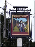 TM2850 : The former Horse & Groom Public House sign by Adrian Cable