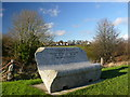NX4354 : Memorial Seat at Wigtown Harbour by Andy Farrington