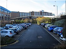 NZ2564 : Car Park near Manors Metro Station by Andrew Curtis