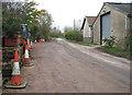 TM1193 : Hunts Green past Grove Farm, Bunwell by Evelyn Simak