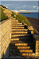 SZ6497 : Steps Near Southsea Castle, Hampshire by Peter Trimming