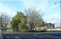 SU1584 : Roundabout at Fleming Way, Swindon by Ruth Sharville
