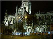 ST7564 : Bath Abbey at night by Neil Owen