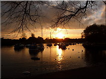 SZ1592 : Christchurch: the quay at sunset by Chris Downer
