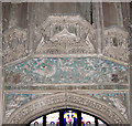 TL5480 : Ely Cathedral - Bishop West's chapel (detail) by Evelyn Simak