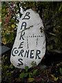 H2094 : Inscribed stone, Baker's Corner by Kenneth  Allen