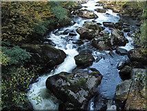 SH7357 : Afon Llugwy at Pont Cyfyng by Trevor Littlewood