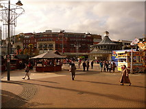 SZ0891 : Bournemouth: The Square on the approach to Christmas by Chris Downer
