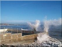 J3730 : Blue skies and crashing waves at the Rock Pool Baths by Eric Jones