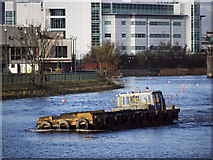 J3472 : Barge 'Beachley' at Belfast by Rossographer