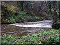 SM9636 : Weir on Afon Gwaun, from north bank by ceridwen