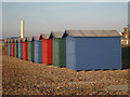 TQ7808 : Beach Huts at Bulverhyde by Oast House Archive