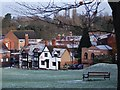 SP2872 : Snow covered rooftops on Rosemary Hill by John Brightley