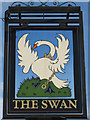 TQ8149 : The Swan sign by Oast House Archive