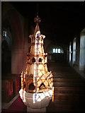 NY3767 : The Parish Church of St Michael & All Angels, Arthuret, Font by Alexander P Kapp