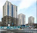 NZ2363 : The refurbishment of the Cruddas Park tower blocks, Scotswood Road by Andrew Curtis
