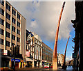 J3374 : Masts, Donegall Place, Belfast by Albert Bridge