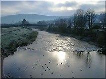 SO5012 : River Monnow / Afon Mynwy by David P Howard