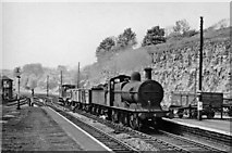 SK1373 : Up local goods at Miller's Dale Station by Ben Brooksbank