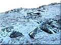 NN2205 : Landslip fissures, Ben Donich by Richard Webb