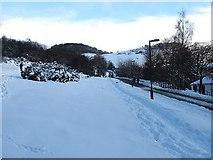 NT2466 : Ski road, Hillend by Richard Webb