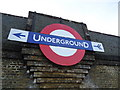 TQ2388 : Underground sign on bridge above North Circular Road, Brent Cross by Stacey Harris
