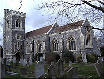TQ5193 : St John the Evangelist Church    Havering-Atte-Bower    Essex by Peter Stack