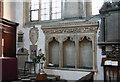 SP5106 : St Mary, Oxford - Sedilia by John Salmon