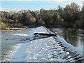 ST1578 : Weir by Llandaff Rowing Club by John Light