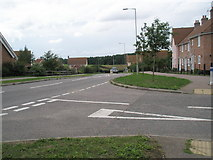 TM3877 : Looking across Holmere Drive and onto the B1123 by Basher Eyre