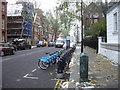 TQ2578 : Barclays London Cycle Scheme docking Station, Collingham Gardens by PAUL FARMER