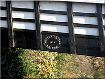 SO8171 : Mitton Chapel Bridge No. 7 (2) - name plate, Staffordshire & Worcestershire Canal by P L Chadwick