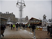 SZ0891 : Bournemouth: The Square after heavy snow by Chris Downer