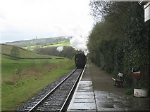 SD7920 : Train leaving Irwell Vale Station by Jonathan Thacker