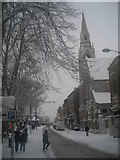 TQ3370 : Westow Street in heavy snow by Christopher Hilton