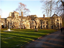 TL8564 : Bury St. Edmunds: west front of the Abbey by Chris Downer