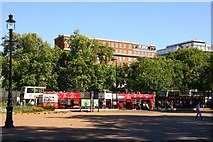 TQ2780 : Looking across Speakers Corner to Park Lane by Steve Daniels