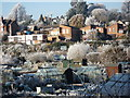 SP2972 : Frosty scene, Odibourne allotments and Lower Ladyes Hills by John Brightley