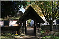 TQ8364 : Lych Gate, Church of St Michael's and All Angels, Hartlip by N Chadwick