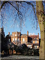 SP2872 : Trees framing the rear of Bank House on a frosty day by John Brightley