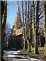SP2872 : St.Nicholas Church on a frosty morning by John Brightley