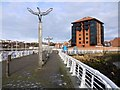 NZ4058 : Esplanade east of Sunderland Marina by Andrew Curtis