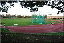 TQ7668 : Running track, Medway Park by N Chadwick