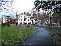 SP3378 : A corner of Greyfriars Green by E Gammie