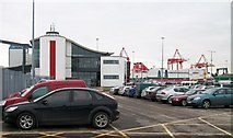 O2034 : Car Park next to the Irish Ferries Passenger Terminal, Dublin Port by Eric Jones
