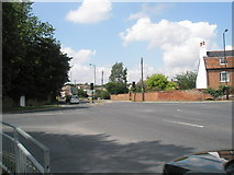 TM2850 : B1438/A1152 crossroads at Melton by Basher Eyre
