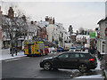 TQ7735 : High Street in snow by Oast House Archive