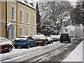 SP2871 : Abbey Hill in the snow by John Brightley